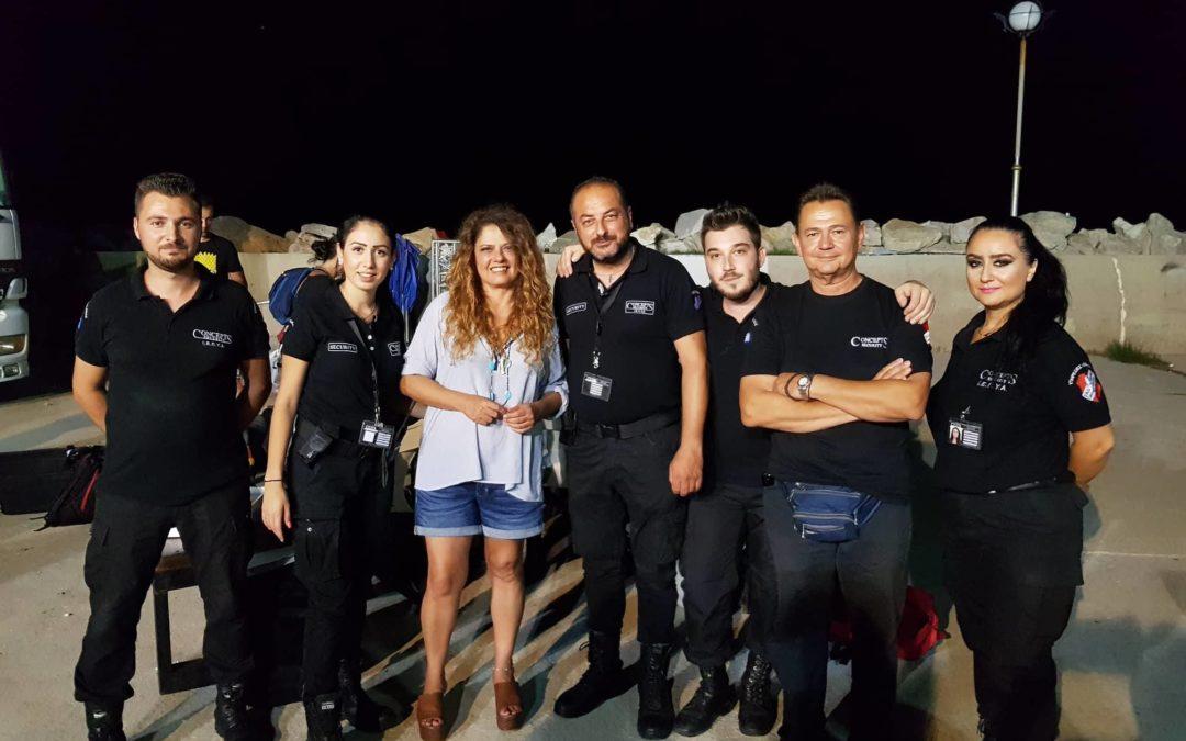 H ConceptsSecurity ανέλαβε την ασφάλεια της συναυλίας στην Καλλιράχη Θάσου